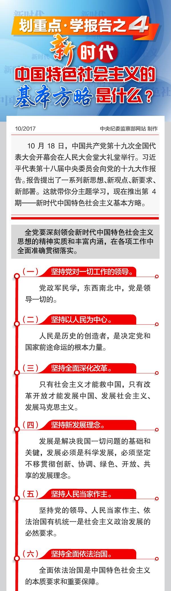 划重点·学报告:新时代中国特色社会主义的基本方略是什么?