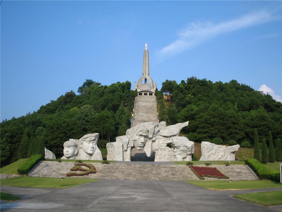 湘江战役纪念公园群雕和主碑