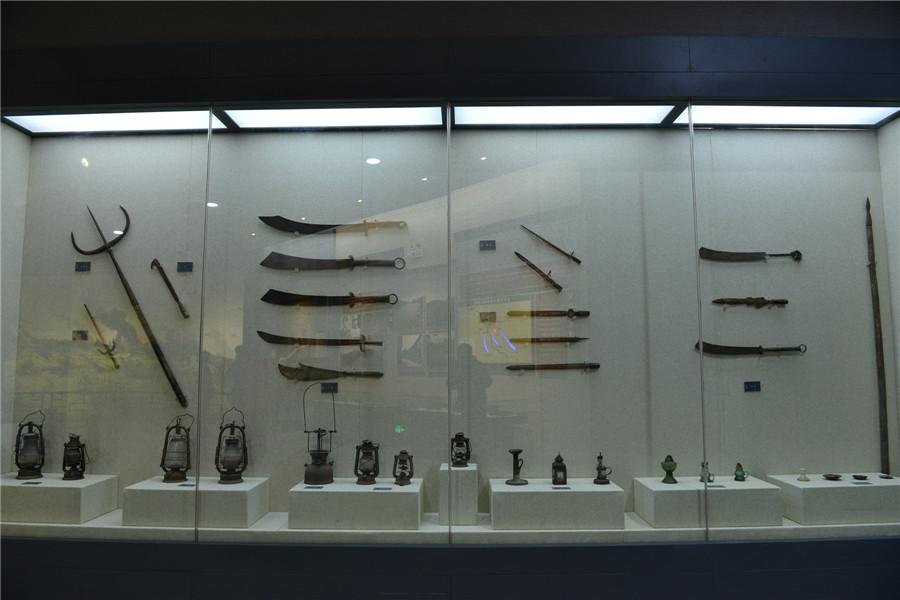 湘江战役部分武器实物展