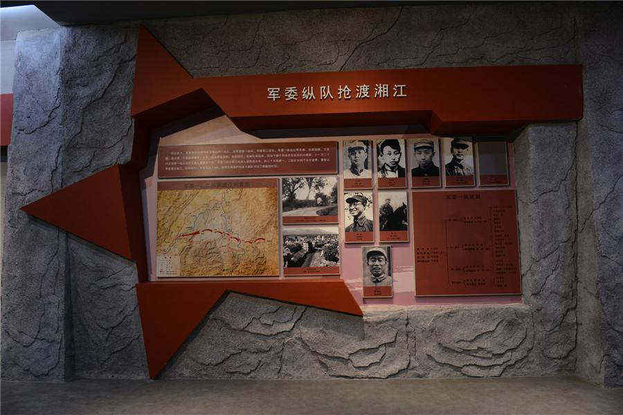 抢渡湘江——军委总队抢渡湘江示意图