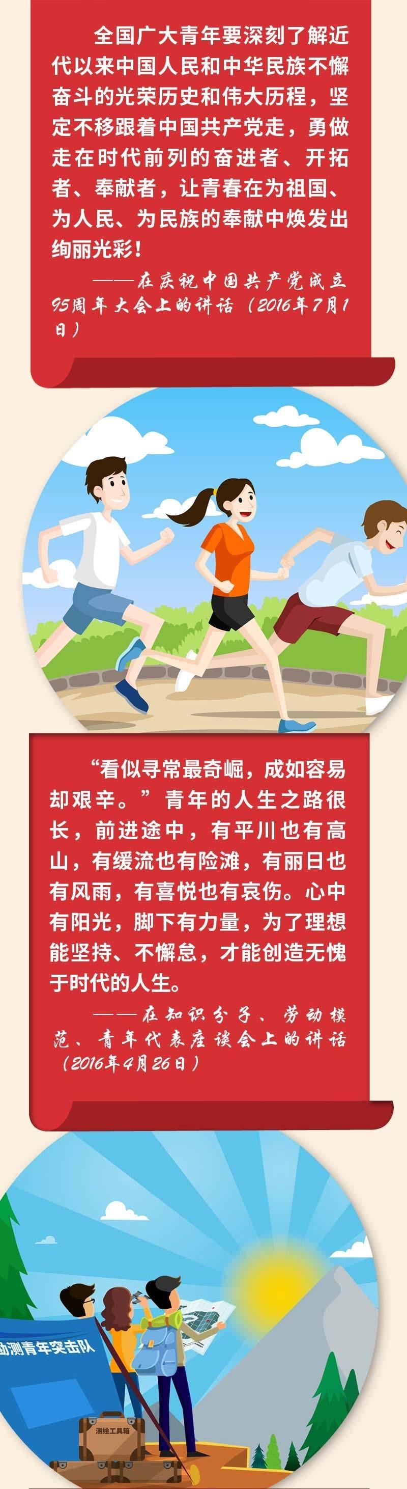 """听习近平总书记这些年讲给青年的知心话丨""""五四""""长图"""
