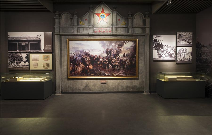 28油画《反围剿的胜利》