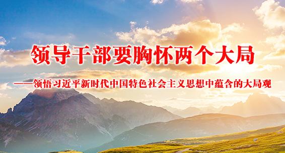 领导干部要胸怀两个大局——领悟习近平新时代中国特色社会主义思想中蕴含的大局观