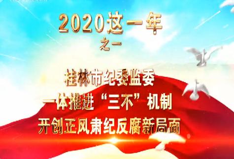 """【爱廉说第173期】2020这一年之一桂林市纪委监委:一体推进""""三不""""机制 开创正风肃纪反腐新局面"""